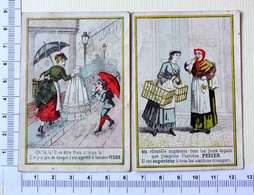 2 CHROMOS..CALENDRIER 1886....JANVIER/FÉVRIER /MARS.........VALENCIENNES ...AMIDON PESIER - Chromos