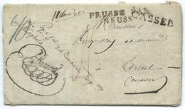 MARQUE POSTALE / CASSEL POUR TOUL FRANCE / WESTPHALIE PRUSSE NEUSS / 1810 / CACHET ROUGE AU VERSO - [1] ...-1849 Préphilatélie