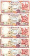 SYRIA 200 LIRA POUNDS  1997 P-109 LOT X5 UNC NOTES  */* - Syria