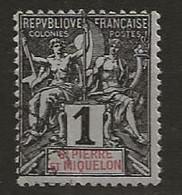 Saint Pierre Et Miquelon 1892 Yvert N° 89 - Gebraucht