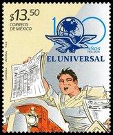 2016 El Gran Diario De México, PERIODICO  100 Años El Universal, NEWSPAPER Vendor, Barker MNH - Mexico
