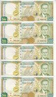 SYRIA 1000 LIRA 1997 2012 P-111 Prefix ( D ) LOT X5 UNC NOTES  */* - Syria
