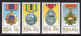 SOUTH AFRICA - 1984 MILITARY DECORATIONS SET (4V) FINE MNH ** SG 572-575 - South Africa (1961-...)