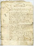 Lettre Du XVIle S, Région Midi-Pyrénées, Baron De Roquemaure - Vecchi Documenti