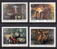SOUTH AFRICA - 1985 OERDER PAINTINGS SET (4V) FINE MOUNTED MINT MM * SG 577-580 - South Africa (1961-...)