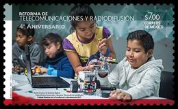 2017 MÉXICO Telecomunicaciones Y Radiodifusión MNH, 4th Anniversary, Telecommunication Reform And Broadcasting, CHILDREN - Mexique
