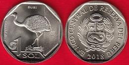 "Peru 1 Sol 2018 ""Darwin's Rhea, Suri"" UNC - Pérou"