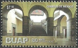 2017 MÉXICO 80 Años  Creación De Benemérita Universidad Autónoma De Puebla MNH,  UNIVERSITY, ARCHITECTURE, STAIRS - México