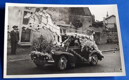 Alte Foto-AK AUTO / CAR :: VW KÄFER - Geschmückt Beim/für Karnevalsumzug  [19-390] - PKW