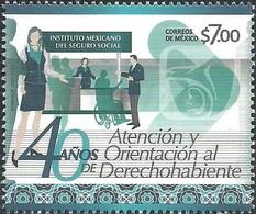 2017 MÉXICO  40 Años De Atención Y Orientación Derechohabiente IMSS, SALUD  MNH, SOCIAL SECURITY, HANDICAPPED PEOPLE - Mexico