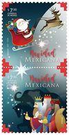 2017 MÉXICO NAVIDAD MEXICANA PAR MNH, Father Christmas Or Santa Claus, THREE WISE MEN PAIR, MNH - Mexiko