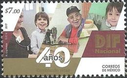 2017 MÉXICO 40 Años Del DIF MNH,  SOCIAL WELFARE, CHILDREN, 40th ANNIVERSARY OF DIF - México