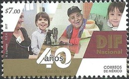 2017 MÉXICO 40 Años Del DIF MNH,  SOCIAL WELFARE, CHILDREN, 40th ANNIVERSARY OF DIF - Mexiko