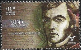 2017 MÉXICO 200 Años Del Natalicio De Mariano Otero MNH POLITICAL AND MEXICAN JURISTS - México