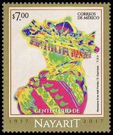 2017 MÉXICO Centenario Del Estado De Nayarit 1917-2017 MNH, Centenary Of The State Of Nayarit, TYPICAL COSTUME STAMP MNH - Messico