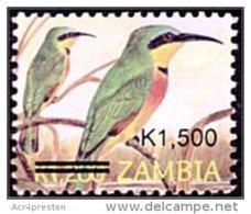 Zm1025 Zambia 2007, SG1025, K1,500 Surcharge On K1,200 Small Format Birds - Zambia (1965-...)