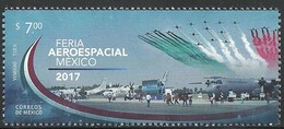 2017  Feria Aeroespacial, México 2017 MNH, Aerospace Fair, Mexico STAMP MNH  Planes, Aviation - Mexico