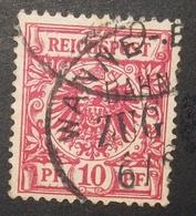 N°234B TIMBRE DEUTSCHES REICH  OBLITERE AVEC SIGNATURE GEPRUFT - Deutschland