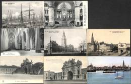 Anvers - Leuke Kleine Lot 10 PK's (animatie, Gekleurd, Tram,...) - Antwerpen