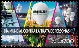2018 MÉXICO  Aquí Estoy; Día Mundial Contra La Trata De Personas MNH World Day Against Trafficking In Persons, BALLOONS - Mexico