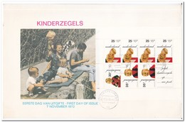 Nederland 1972, FDC, Children Stamps, Complete Sheet - FDC