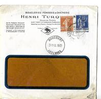 Enveloppe Commerciale 1938 / 08 RAUCOURT / Henri TURQUAIS / Boucleries, Fonderie & Chaînerie / Sanglier - France