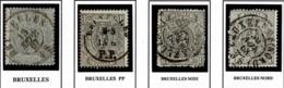 +MW-4312   BRUXELLES+BRUXELLES PP +BRUXELLES MIDI+BRUXELLES NORD   Dubbel Cirkel  OCB  23 - 1866-1867 Petit Lion