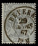 +MW-4313   BEVEREN   Dubbel Cirkel  OCB  23 - 1866-1867 Petit Lion