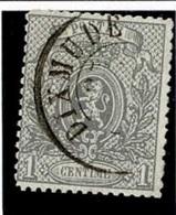 +MW-4320   DIXMUDE   Dubbel Cirkel  OCB  23 - 1866-1867 Petit Lion