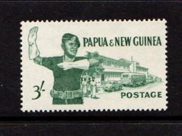 PAPUA  NEW  GUINEA    1961    3/-  Deep  Bluish  Green    MH - Papua New Guinea