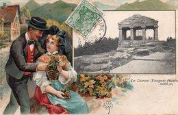 DONON - 2 Cartes Première Gaufrée - Assez Rare Voir Scan - Ont Circulé Le 2 Août 1909 Et 28 Juillet 1907 - Alsace