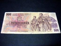 TCHECOSLOVAQUIE 500 Korun 1973, Pick N° 93, CZECHOSLOVAKIA CESKOSLOVENSKA - Cecoslovacchia