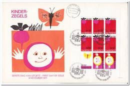 Nederland 1971, FDC, Children Stamps, Complete Sheet - FDC