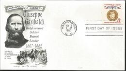J) 1960 UNITED STATES, MASONIC GRAND LODGE, CHAMPION OF LIBERTY GIUSEPPE GARIBALDI ITALY'S REVERED SOLDIER PATRIOT LEADE - United States
