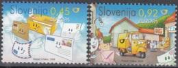 Slovenija 2008 Yvert 619 - 620 Neuf ** Cote (2015) 3.50 Euro Europa CEPT L'écriture D'une Lettre - Slovénie