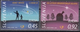 Slovenija 2009 Yvert 660 - 661 Neuf ** Cote (2015) 4.20 Euro Europa CEPT L'astronomie - Slovénie