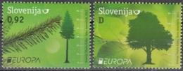 Slovenija 2011 Yvert 741 -742 Neuf ** Cote (2015) 4.30 Euro Europa CEPT Les Forêts - Slovénie
