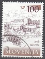 Slovenija 2000 Michel 300 O Cote (2006) 1.70 Euro Château De Podsreda Cachet Rond - Slovénie