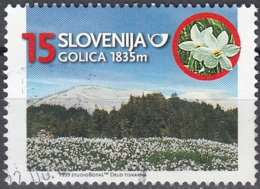 Slovenija 1999 Michel 255 O Cote (2006) 0.70 Euro Montagne Golica Cachet Rond - Slovénie