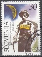 Slovenija 1999 Michel 261 O Cote (2006) 0.40 Euro 125 Ans UPU Facteur Cachet Rond - Slovénie