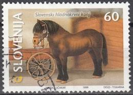 Slovenija 1999 Michel 263 O Cote (2006) 0.80 Euro Cheval à Sang Froid De Slovénie Cachet Rond - Slovénie