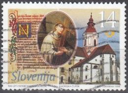Slovenija 1998 Michel 235 O Cote (2006) 0.50 Euro Eglise Du Cloître à Sticna - Slovénie