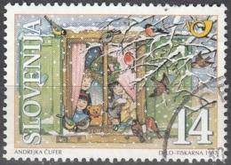 Slovenija 1997 Michel 211 O Cote (2006) 0.20 Euro Noël Enfants Et Oiseaux Cachet Rond - Slovénie
