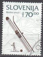 Slovenija 1995 Michel 125 O Cote (2006) 1.00 Euro Skieur Cachet Rond - Slovénie