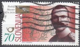 Slovenija 1999 Michel 249 O Cote (2006) 0.90 Euro Œuf De Rudolf Maister Général Et Poète Cachet Rond - Slovénie