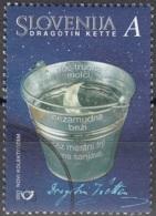 Slovenija 2001 Michel 334 O Cote (2006) 0.50 Euro Poète Dragotin Kette Cachet Rond - Slovénie