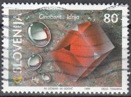 Slovenija 1999 Michel 257 O Cote (2006) 1.20 Euro Minéraux Mercure Et Cinabre De Idrija - Slovénie