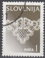 Slovenija 1996 Michel 153X O Cote (2006) 0.20 Euro Dentelle De Idria Cachet Rond - Slovénie