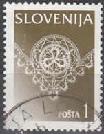 Slovenija 1996 Michel 154X O Cote (2006) 0.20 Euro Dentelle De Idria Cachet Rond - Slovénie