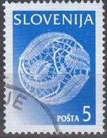 Slovenija 1996 Michel 157X O Cote (2006) 0.20 Euro Dentelle De Idria Cachet Rond - Slovénie